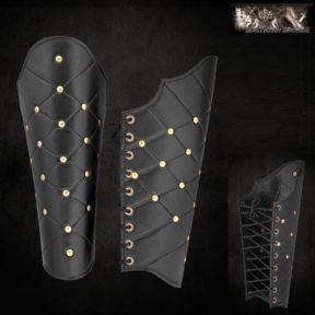 Roman / Greek Leather Greaves With Lozenge Pattern